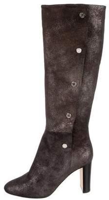Jimmy Choo Metallic Knee-High Boots