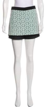 Tibi Lace Overlay Mini Shorts
