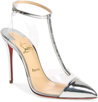 3aa368ff248 Christian Louboutin Nosy Crystal Embellished T-Strap Pump