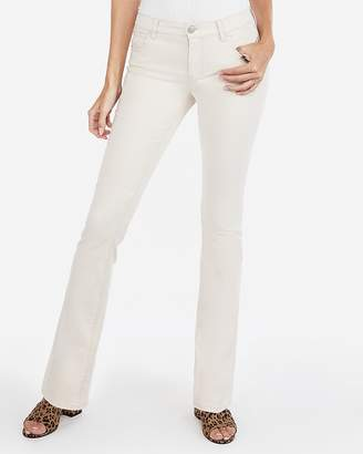 Express Mid Rise Barely Boot Chino Pants