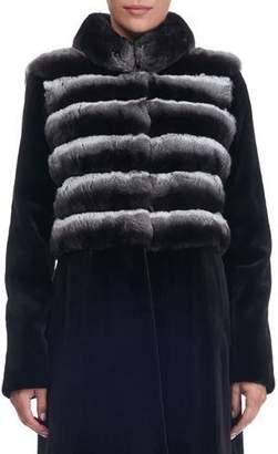 Oscar de la Renta Sheared Mink Fur Stroller Coat