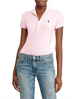 Polo Ralph Lauren Julie Polo Skinny Short Sleeve Knit