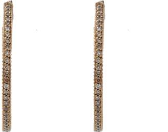 Yossi Harari Lilah Cognac Diamond Pave Hoop Earrings