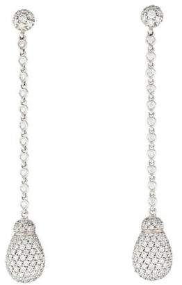 Pre Owned At Therealreal Chantecler 18k Diamond Joyful Long Drop Earrings