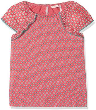 Fat Face Girl's Freya Circle Frill Blouse,(Manufacturer Size: 6-7)