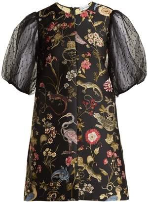 RED Valentino Floral-jacquard dress