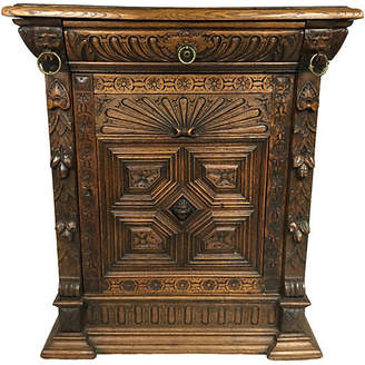 One Kings Lane Vintage 19th-C. Carved French Oak Cabinet