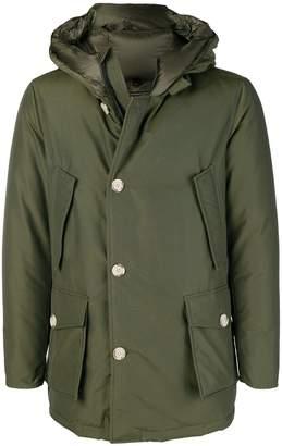 Woolrich zipped hooded coat