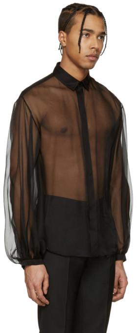 Saint Laurent Black Sheer Shirt 4