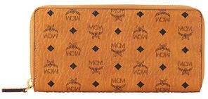 MCM Logo-Embossed Large Zip Wallet