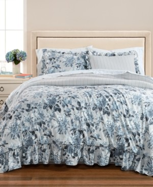Martha Stewart Closeout! Collection Floral Rouching 8-Pc. California King Comforter Set, Created for Macy's Bedding