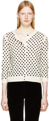 Marc Jacobs Ivory Polka Dot Cardigan