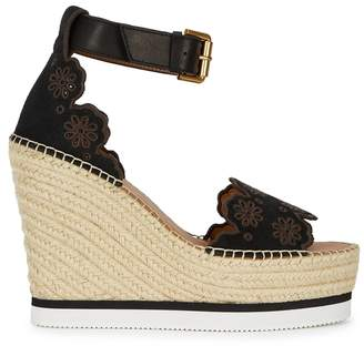 e0d5d6cff6c5 See by Chloe Glyn 125 Suede Espadrille Wedge Sandals