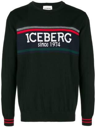 Iceberg logo lightweight sweater