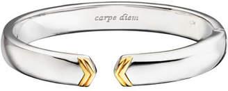 Monica Rich Kosann Sterling Silver Cuff Bracelet with 18k Gold Chevron