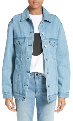 Women's Etre Cecile L'Avenue Des Stars Embroidered Denim Jacket $310 thestylecure.com