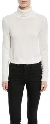 Ralph Lauren Long-Sleeve Chunky Cotton Turtleneck Sweater