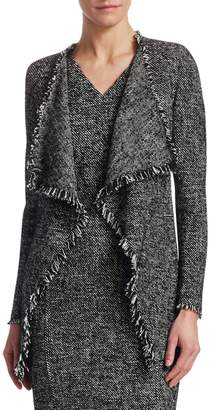 Akris Punto Tweed Waterfall Cardigan