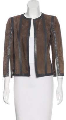 Akris Suede Striped Jacket