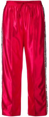 Gucci sequin stripes track trousers