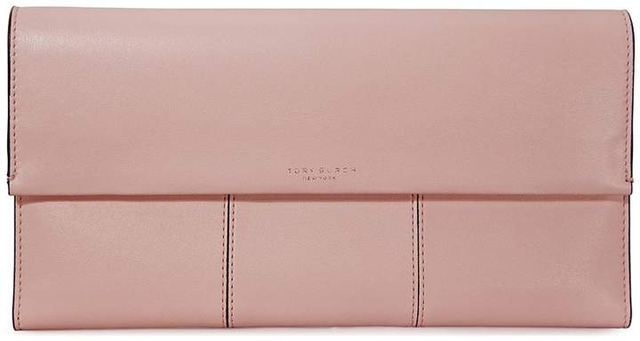 Tory Burch Block-T Travel Clutch - Shell Pink - ONE COLOR - STYLE