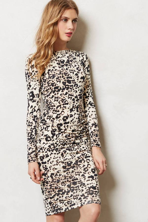 Anthropologie Ruched Chatte Dress