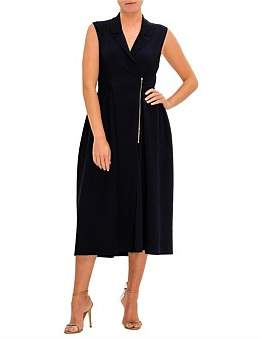 Stella McCartney Midi Zip Front S/S Dress