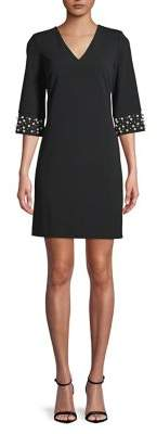 Calvin Klein Beaded-Cuff Shift Dress