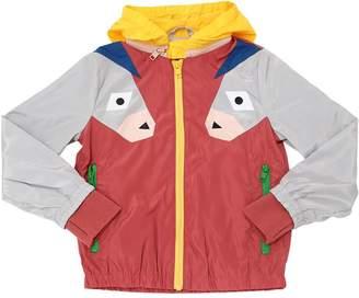 Stella McCartney Hooded Donkeys Patches Nylon Jacket