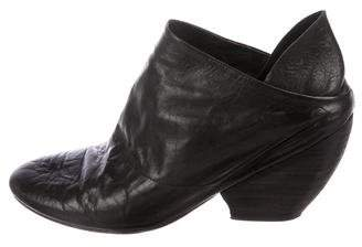 Marsèll Leather Round-Toe Booties