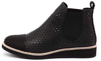 Django & Juliette New Chance Black Cut Leather Black Black Womens Shoes Casual