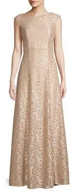 Eliza J Lace Cap Sleeve Gown