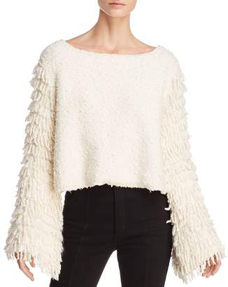 Alice McCall On Fire Fringe-Sleeve Sweater