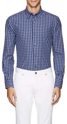 Ermenegildo Zegna Men's Plaid Cotton Button-Down Shirt