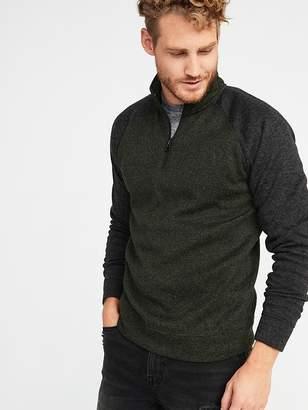 7a880fda392 Old Navy Color-Block Sweater-Fleece 1 4-Zip Pullover for Men