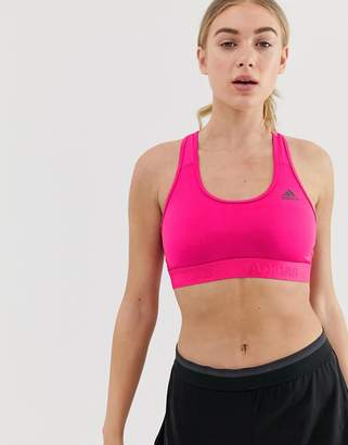 f29fc1d9e63 adidas Training Don't Rest Bra In Pink