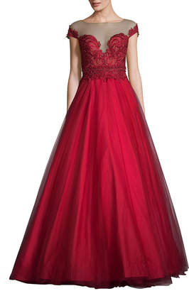 Terani Couture GLAMOUR BY Glamour By Short Sleeve Ball Gown-Juniors