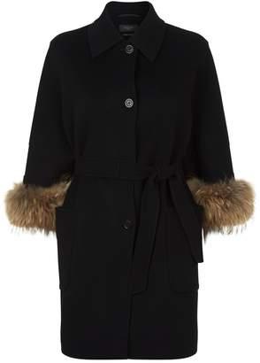 Max Mara King Fur Cuff Coat