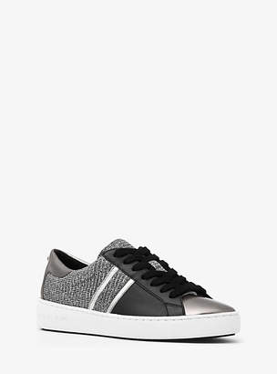 Michael Kors Keaton Chain-Mesh And Leather Sneaker