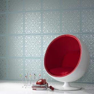 Pin It Graham And Brown Barbara Hulanicki Wallpaper - Viva Pattern - In Turquiose/gold