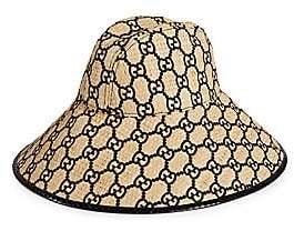 Gucci Women's GG Logo Straw Hat