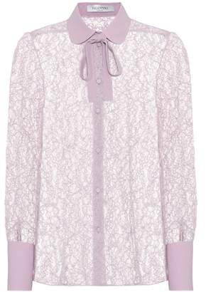 Valentino Collared lace blouse