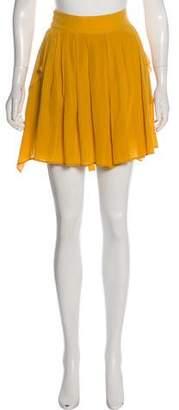 Pomandère Pleated Silk Skirt w/ Tags
