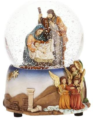Mark Roberts Painted Nativity Snowglobe