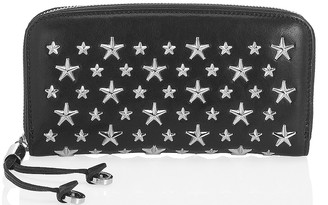 Jimmy Choo FILIPA Black Leather Wallet with Stars