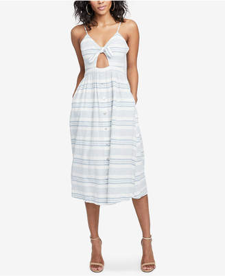 Rachel Roy Striped Cutout Dress