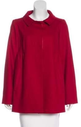 Tara Jarmon Wool & Cashmere-Blend Button-Up Jacket