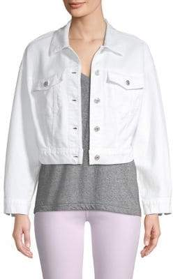 7 For All Mankind Bubble White Denim Jacket