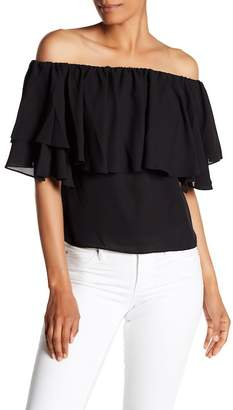 1 STATE 1.State Off-the-Shoulder Ruffle Blouse