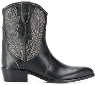 Twin-Set embroidered cowboy boots
